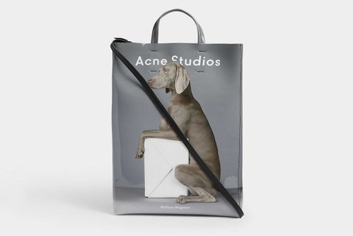 Acne Studios's Baker Tote Bag Now Sports Weimaraner Dog Graphic