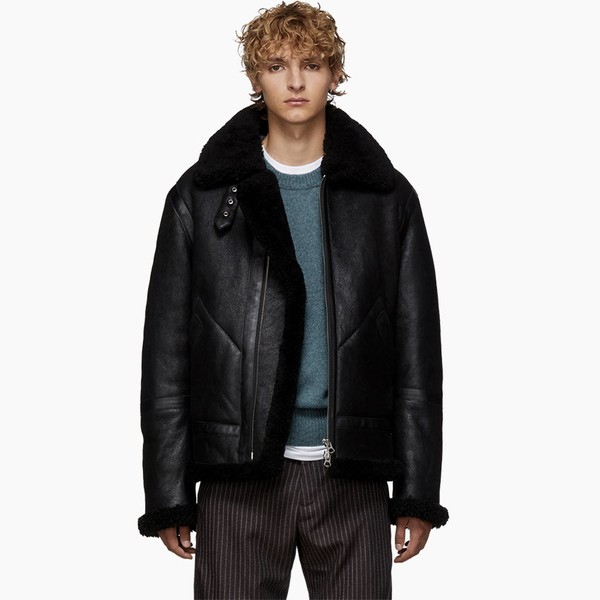 Acne Studios Oversized Orsino Teddy Jacket
