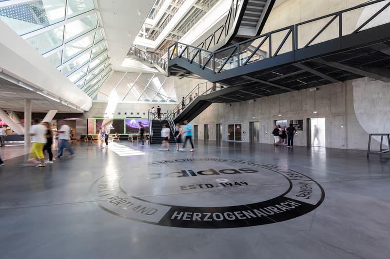 adidas headquarters herzogenaurach germany new arena building 70th anniversary celebration laces kasper rorsted ceo world of sports soccer stadium design interior inside look