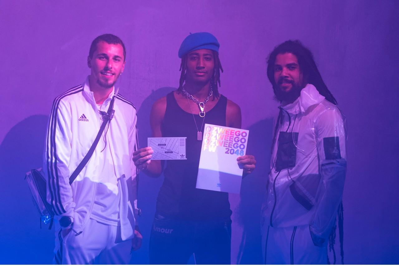 Recapping Futuristic Adidas Ozweego Pop Up Event Featuring New Colorways and Updated Style chunky shoe future newsstand projection mapping lower east side