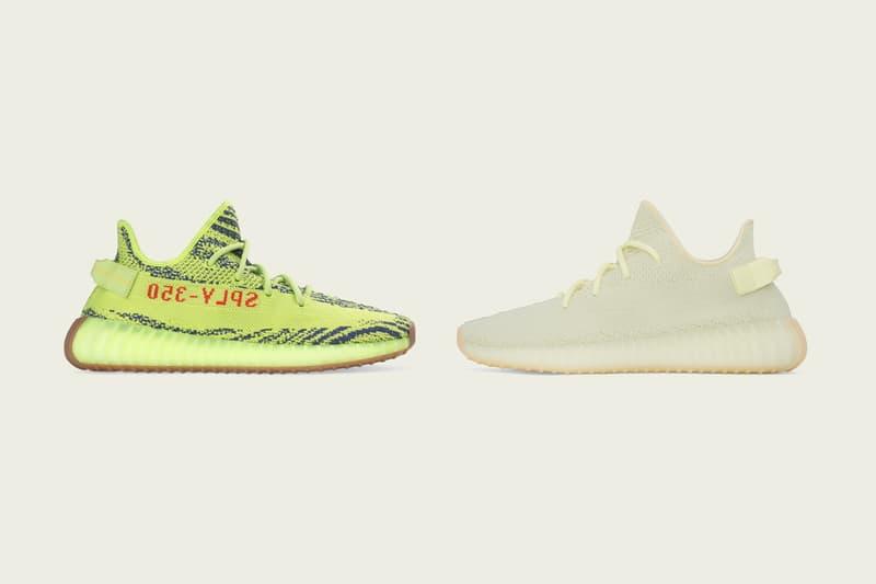 adidas YEEZY Deadstock Release Countdown Timer BOOST Sneakers Kanye West 700 500 350 v2 semi frozen yellow butter restock