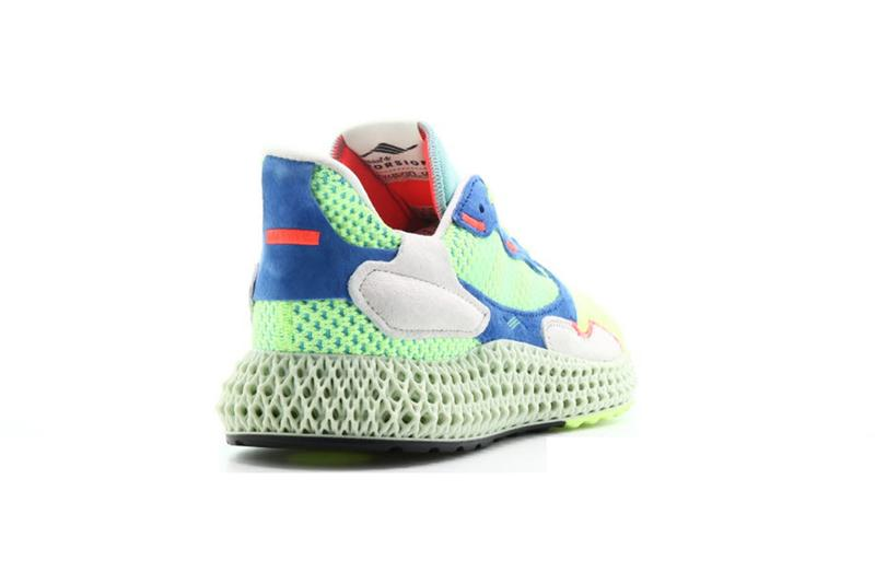 "adidas ZX 4000 4D ""Easy Mint"" Hi Res Yellow Linen Green Sneaker Release Information Release Liquid Resin Light Oxygen Sole Unit Footwear Retro Rework Primeknit Three Stripes"