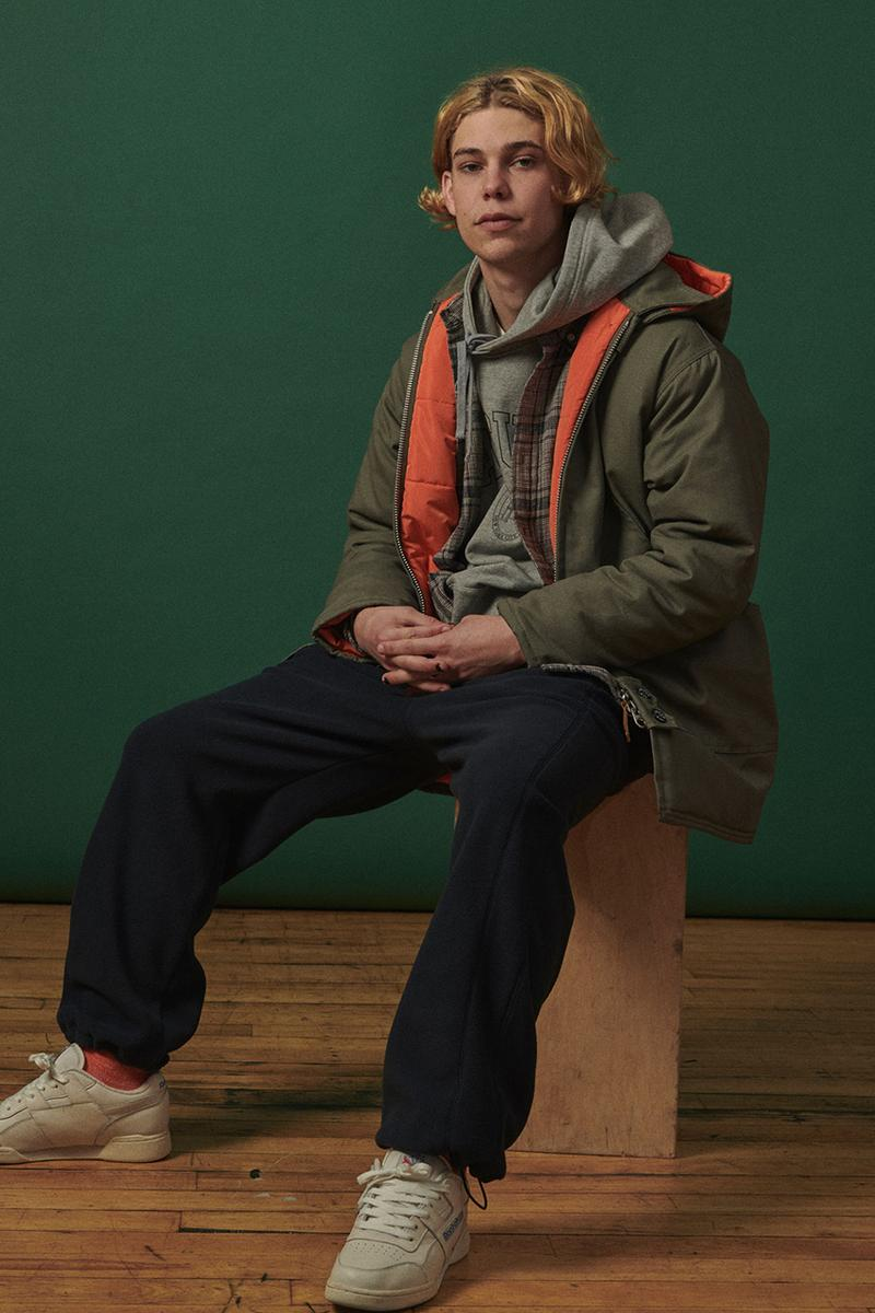 Adsum Fall Winter 2019 FW19 Lookbook Collection Drop One First Release Williamsburg, Brooklyn Flagship Opening Store Napa Valley Workwear Coats Trousers Shirts Jackets Hoodies Pop Colors Sportswear Items new Herringbone Work Jacket Designer Pete Macnee Utility Pant