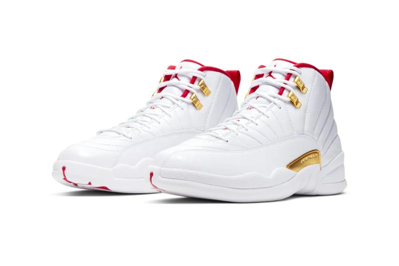 "Air Jordan 12 ""FIBA"" Release Info ""White/University Red"" Nike michael MJ sneakers shoes footwear drop date price stockist snkrs official look"