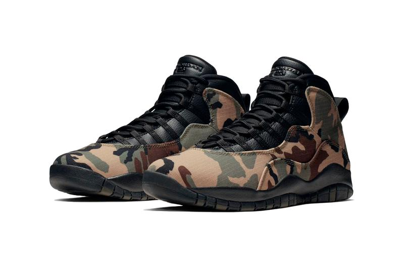 Air Jordan 10 Woodland Camo Update Michael Jordan Basketball Shoe Release Drop Info