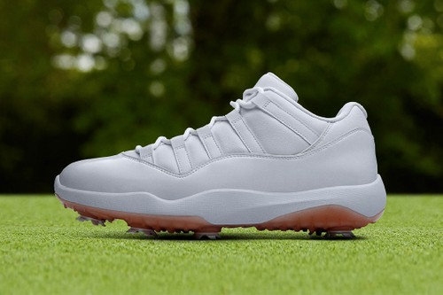 "The Air Jordan 11 Low Golf Receives a Deluxe ""White/Metallic Gold"" Finish"
