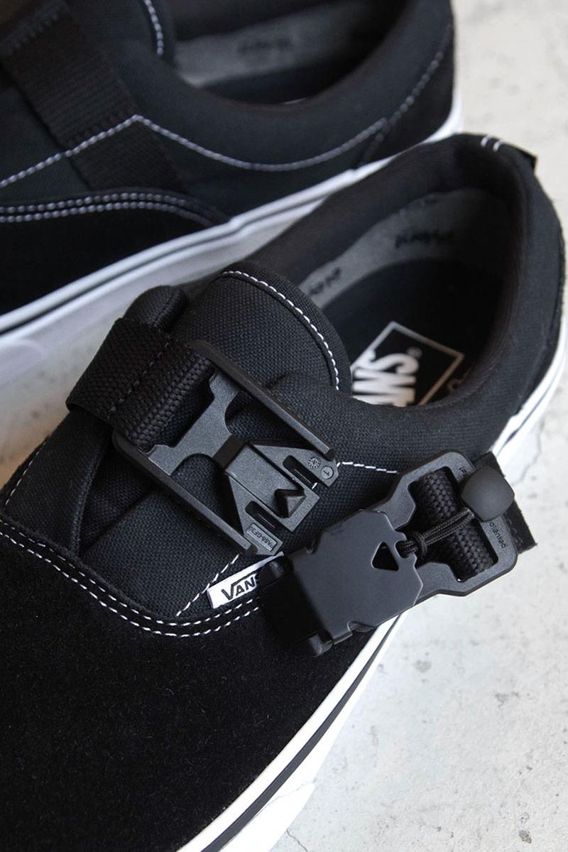 Alexander Lee Chang x Vans Era Fidlock, e-Vent collaboration january 11 2019 release date info august 9 2020 pre order colorway black shelter tokyo