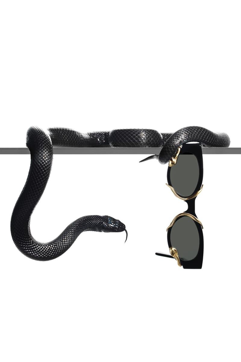 Alexander Wang Gentle Monster Sunglasses Collaboration M.PRI$$ Black Clear Frame Metal Snake