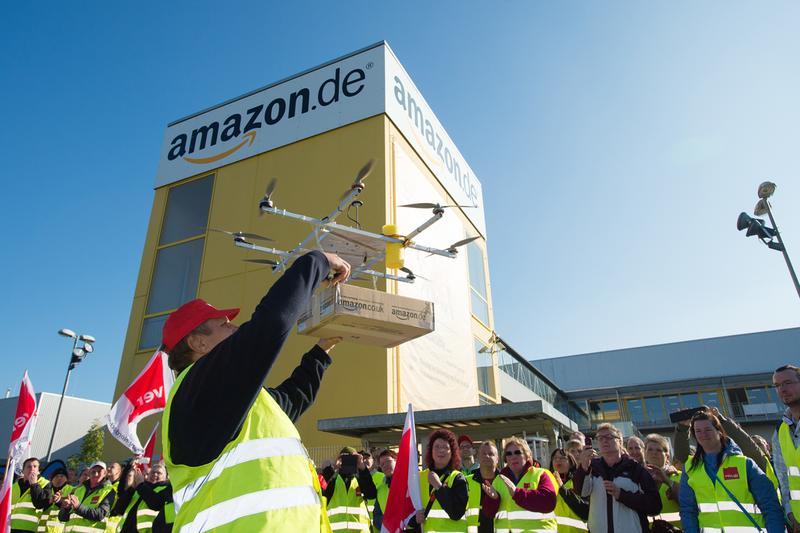 Amazon's Drone Delivery Service Operations FAA Federal Aviation Administration beyond line of sight avoid and detect technology university of alaska