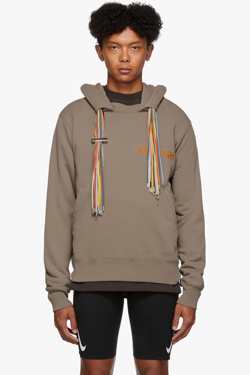 ambush multicord multi cord logo hoodie colorful drawstrings release fall 2019 sweatshirt black blue beige