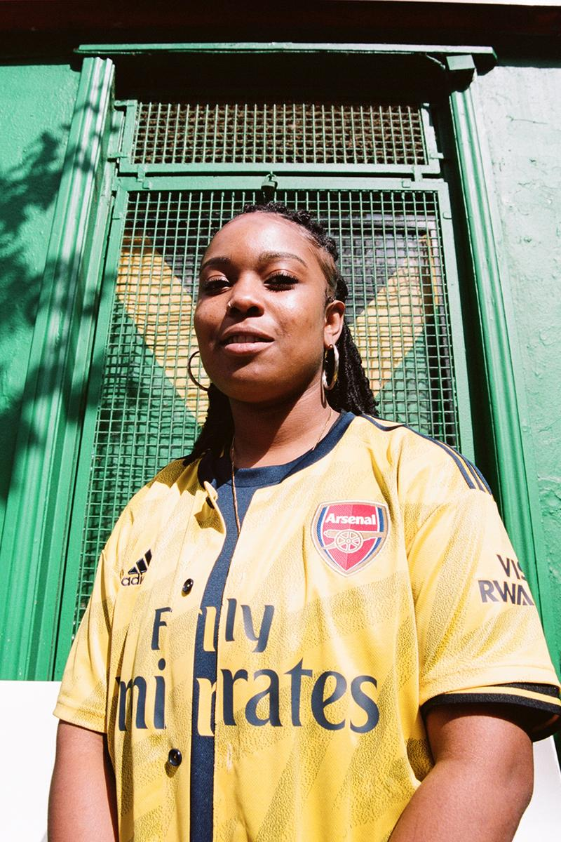 arsenal adidas bruised banana away jersey shirt kit 1990s 90s ian wright notting hill carnival yellow soccer football first look art of football