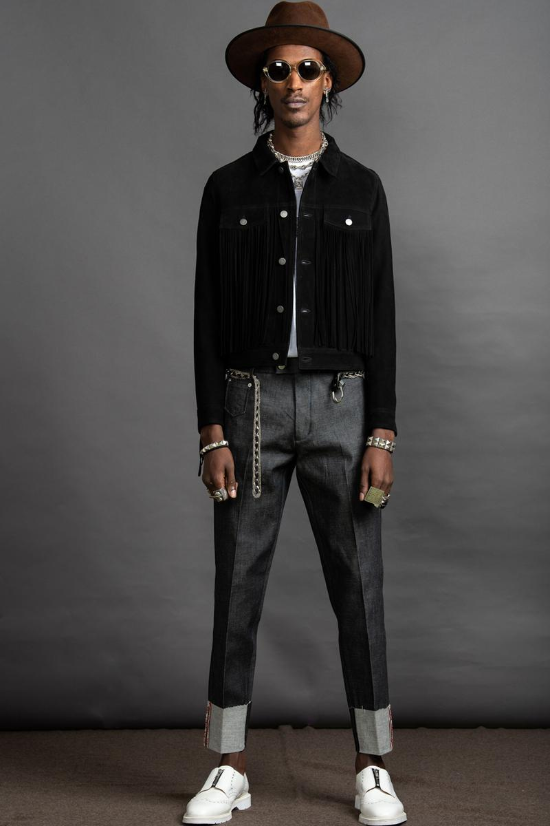 Art Comes First Fall/Winter 2019 Collection Electric Church Jackets Pants Shirts Hats Black Leather Fringe Studs Chains Cross Textiles Avery Dennison