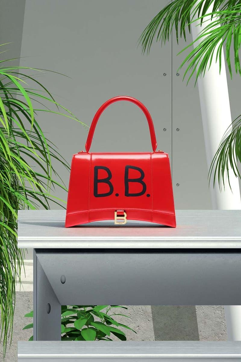 Balenciaga On-Site Bag Customization Graffiti Personalization Artist New York City Hourglass Bright Red
