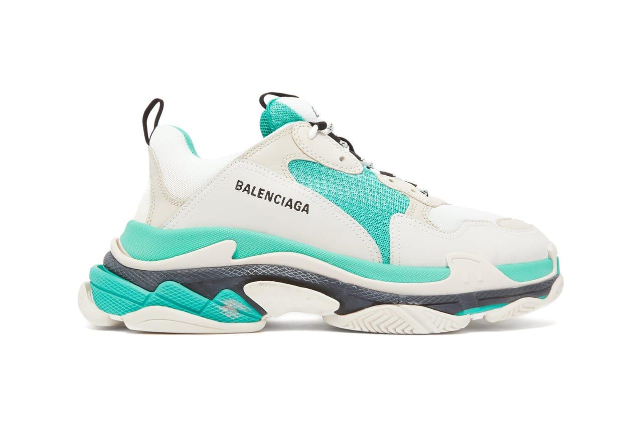 Sneakers Balenciaga Triple S Beige Green Yellow worn by