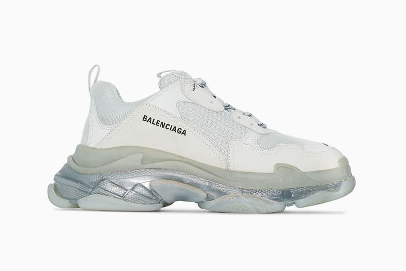 Balenciaga Triple S Pearl Grey Denma Gvasalia trainers sneakers chunky bulky footwear sneaker grey silver translucent midsole retro tonal shades