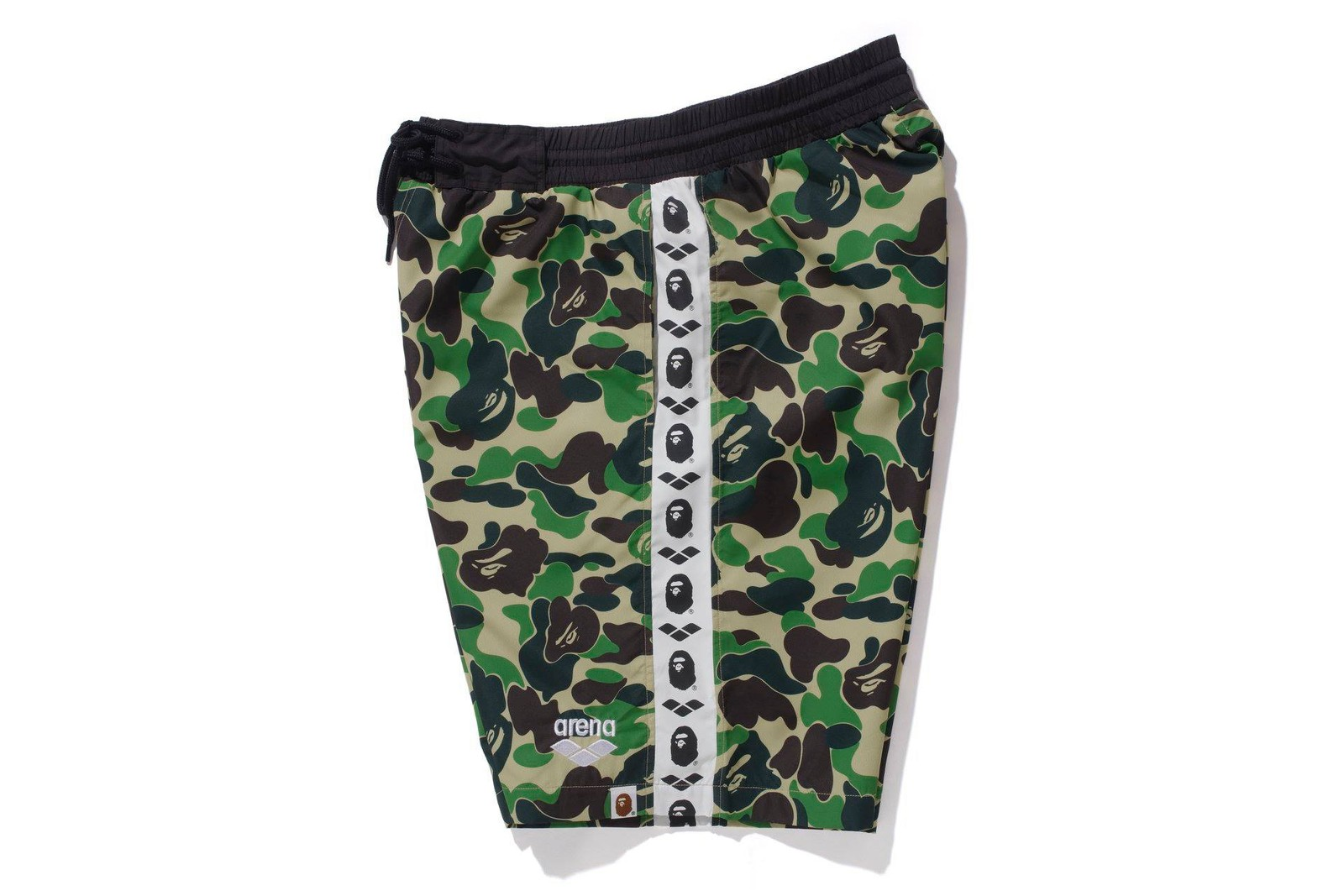 BAPE arena Swimwear Collection a bathing ape capsules swim trunks swimsuits googles flutter kick board ape head towels abc camo Swimwear lookbooks collaborations