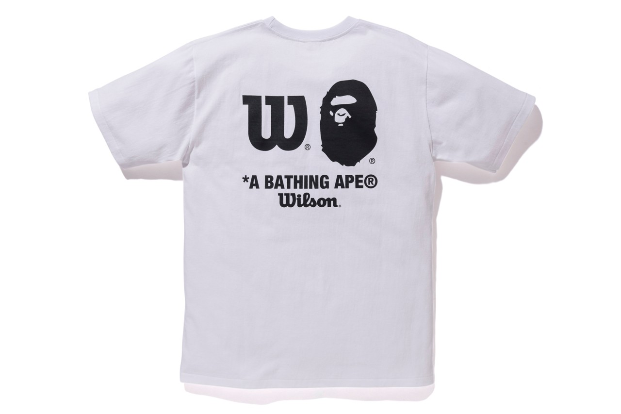 BAPE x Wilson Tennis Capsule Collection high performance Racket Visors Caps Wrist Bands Head Bands T-Shirts Camouflage Black Red