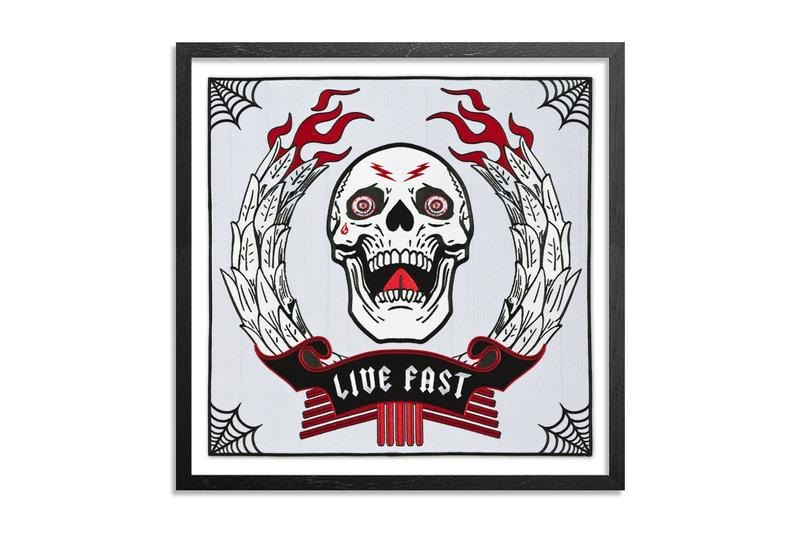 ben venom artworks prints one time run editions collectibles patches textiles