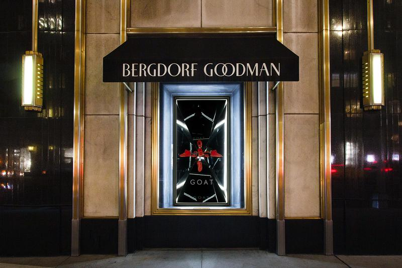 Bergdorf Goodman GOAT Rare Sneaker Installation NYFW Chanel Pharrell adidas NMD Human Race Trails Nike Air Mag NYC Exhibition Partnership Collaboration New York Fashion Week