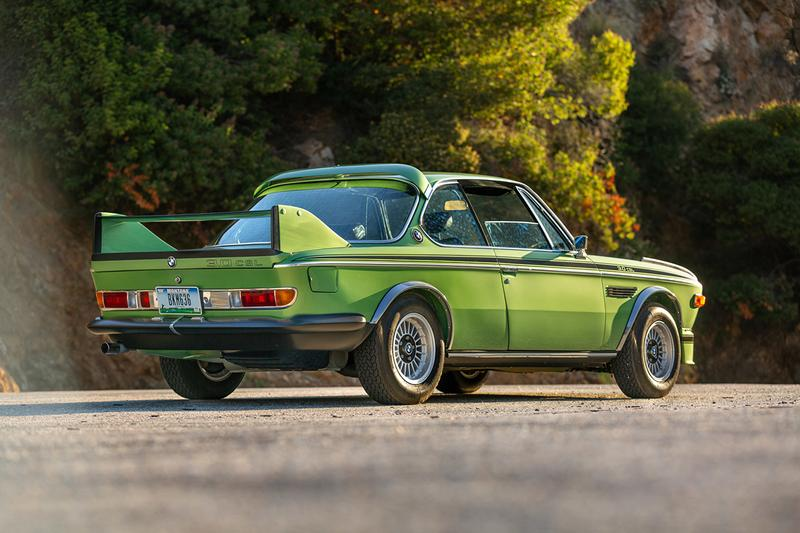 1974 BMW 3 csl batmobile bring a trailer taiga metallic green auction details price estimate buy cop purchase bid now