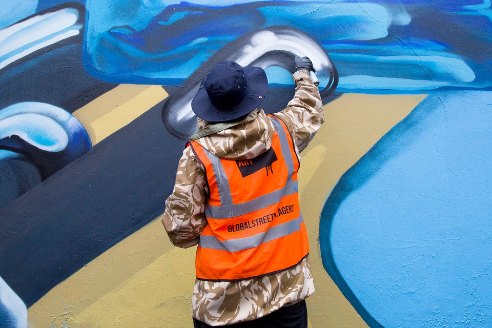 Manchester Artist Qubek Explores Creative Possibilities in New Mural for Bombay Sapphire