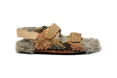 By Walid's Plush Sandals Are Made From 17th-Century Tapestry