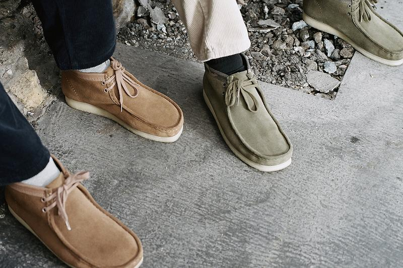 carhartt wip clarks originals wallabee boots brown combi olive camo military workwear release information status details buy cop purchase september 5
