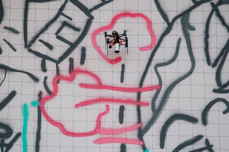 Carlos Rato Associati Graffiti Drones Compagnia di San Paolo Gray Black Blue Pink UFO The Urban Flying Opera