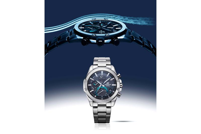 Casio EQB1000D-1A Edifice Collection Sapphire Crystals Bluetooth Silver Teal