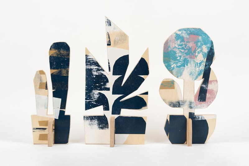 cody hudson Plant Based Architecture lets stay alive sculpture series louis buhl and co artwork art screenprints plywood paint