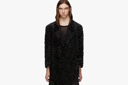 Delicate Textiles Inform COMME des GARÇONS HOMME PLUS FW19's Black Coats