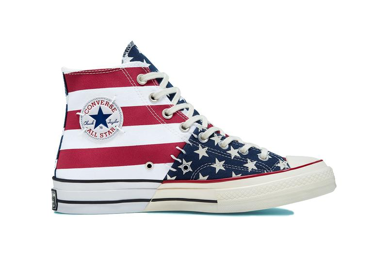 """Converse Chuck Taylor 70 """"Archive Reconstructed"""" high top all star colorway black white monochrome red blue patchwork"""