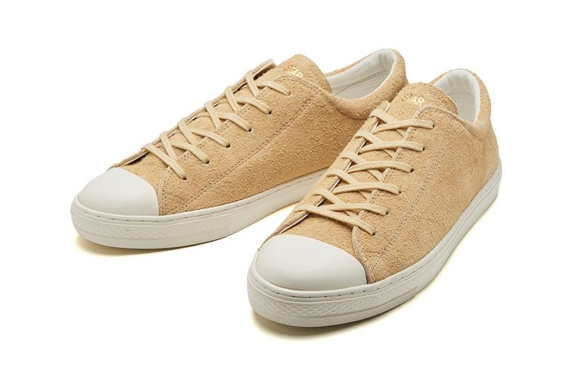 Converse releases suede all star coupe ox leather beige gold lettered tongue white toe box end of summer japan