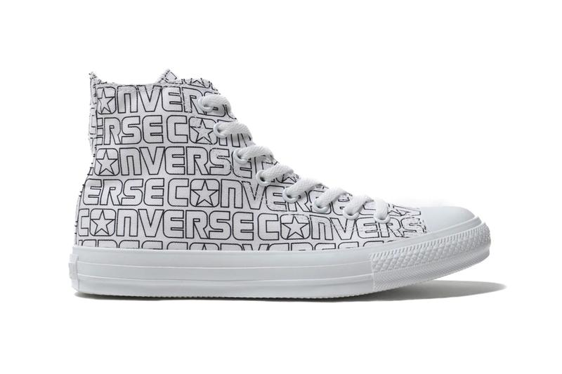 Converse Japan Chuck Taylors All Star Nurie red yellow blue block letters monochromatic black white footwear sneakers tonal coloring fill markers