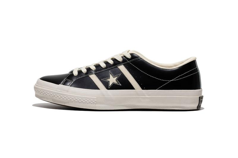 """Converse Japan Stars & Bars """"Vintage Leather"""" black colorway release info date september 20 2019 black vntg exclusive 50th anniversary retro"""