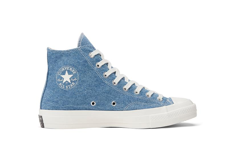 Converse Renew Denim Launch Chuck 70 Hi Low Ox Light Medium Dark Butterfly Cut Panel Construction Sustainable Second Hand Vintage Jeans Beyond Retro Upcycling