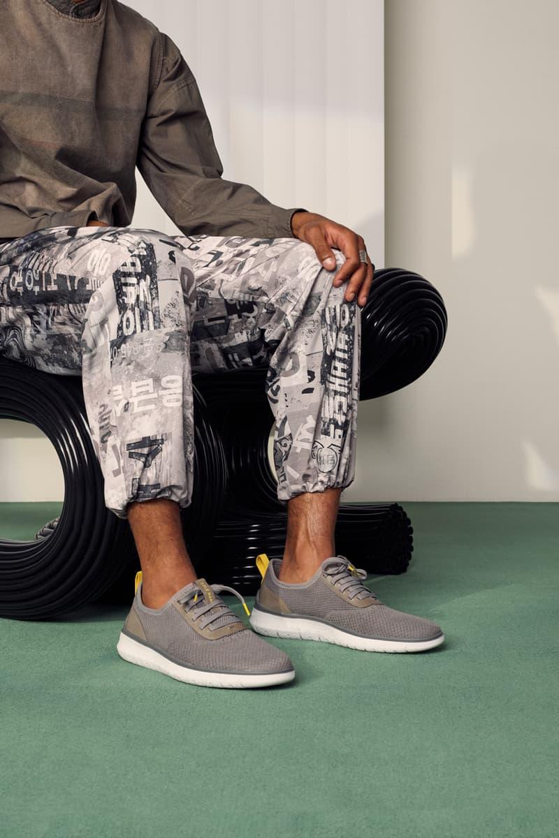 Cole Haan Generation ZERØGRAND white shoe cushioning fashion utility military blue  yellow grey dark telephone