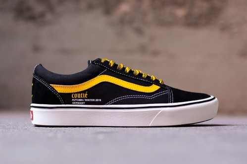 """Coutié Customizes Vans Old Skool With """"Old C Logo"""" & Reworked Yellow Detailing"""