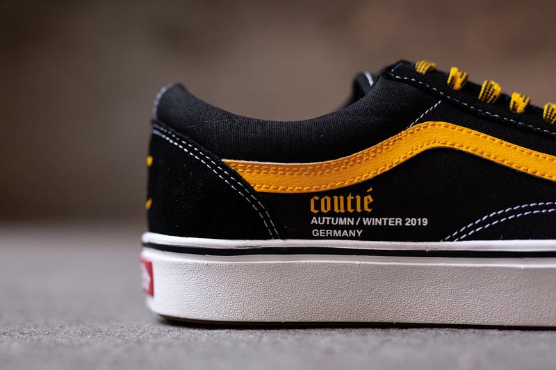 "Coutié x Vans Old Skool ""Old C Logo"" Black White Yellow Sneaker Release Information Limited Edition ComfyCush Technology Jazz Stripe License Plate Waffle Sole Unit Vulcanized Footwear Skateboarding California Shoe"