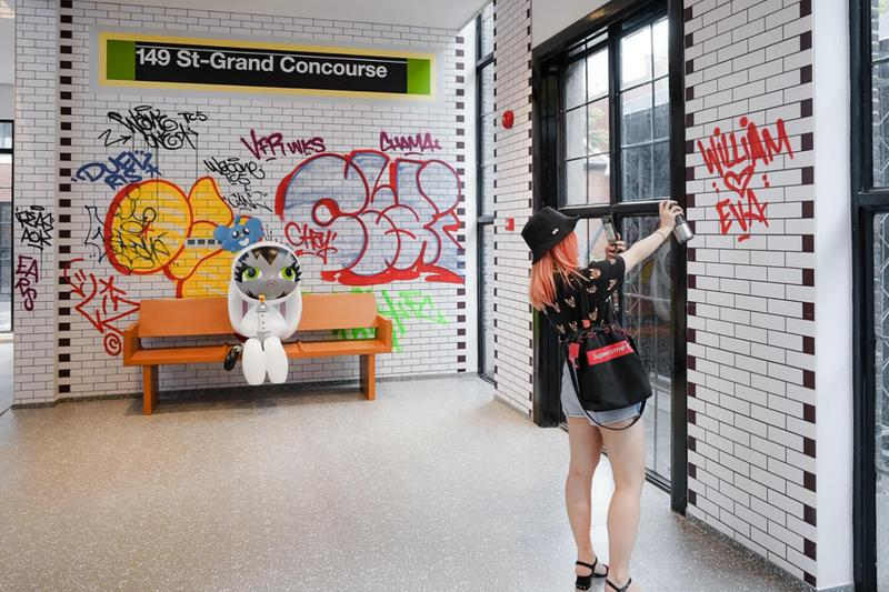 Dave Persue Wet Paint Shanghai Exhibition BunnyKitty Wavemaker Curative Co Creative Park 1 The Cool Docks MTA Subway New York City