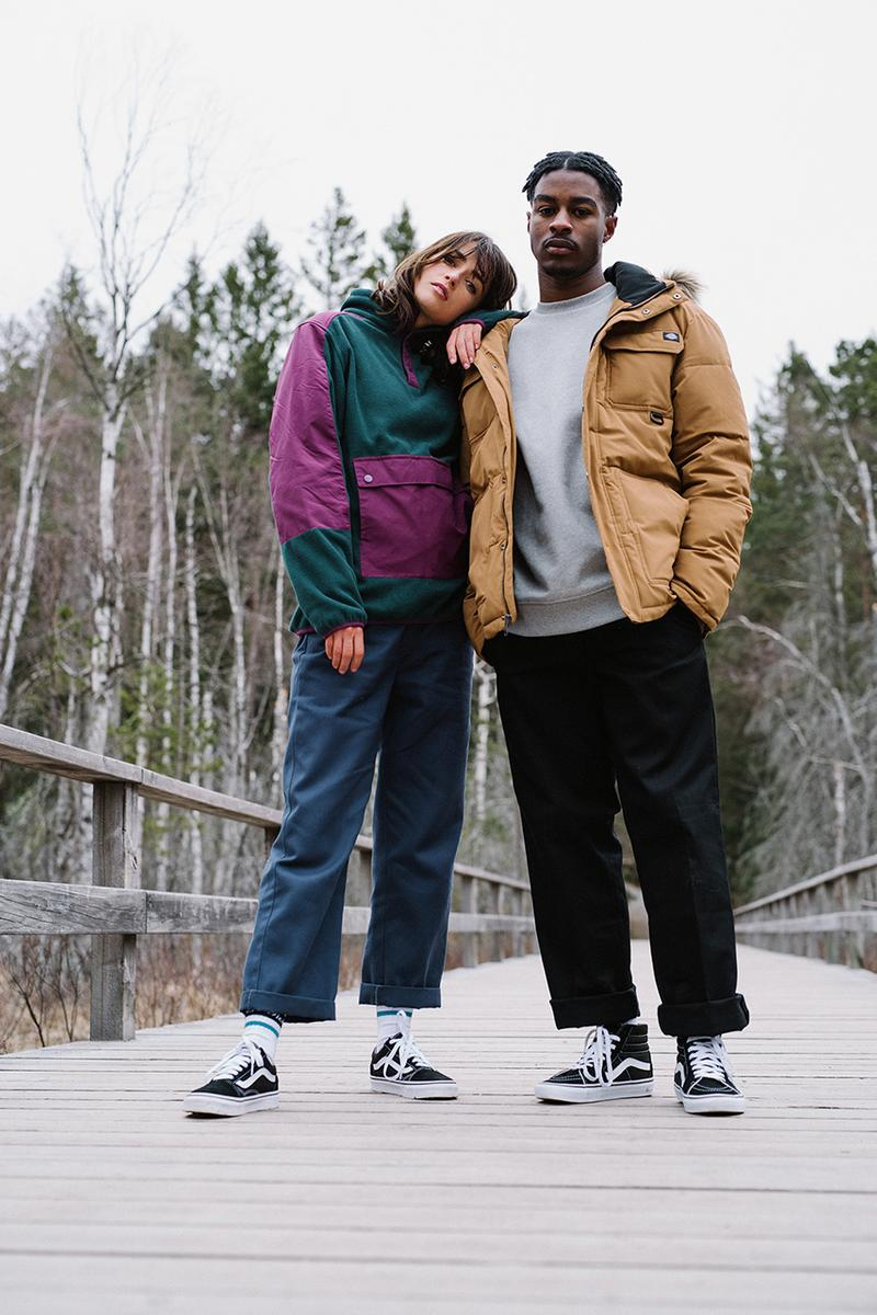 Dickes Life Fall Winter 2019 FW19 Collection Lookbook Mens Women Workwear Silhouettes Lewisburg Velvet work pant Garrison jacket Co Ord Pieces Sherpa Trucker Padded Outerwear