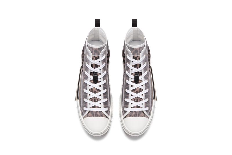 Dior B23 High-Top Sneakers Low-Top Leopard Print Brown Gray