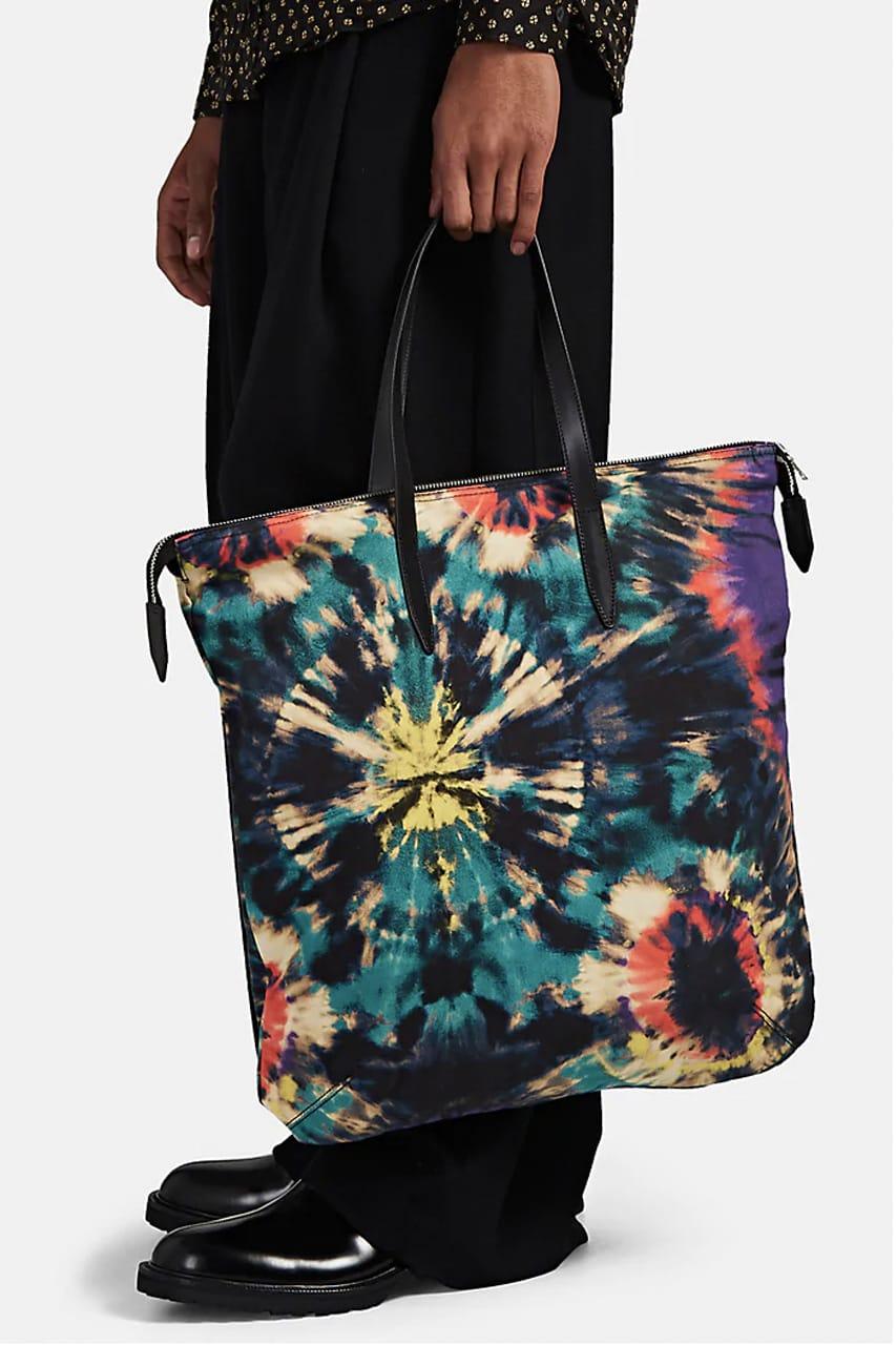 Messenger Bag Multicolor Tie-Dye Design Cross Body Strap