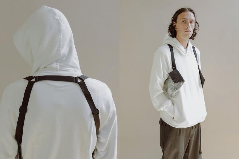 DSPTCH RND Clear Panel Dyneema Collection White Black Unit Holster Pouch Vertical Pouch Sling Pouch