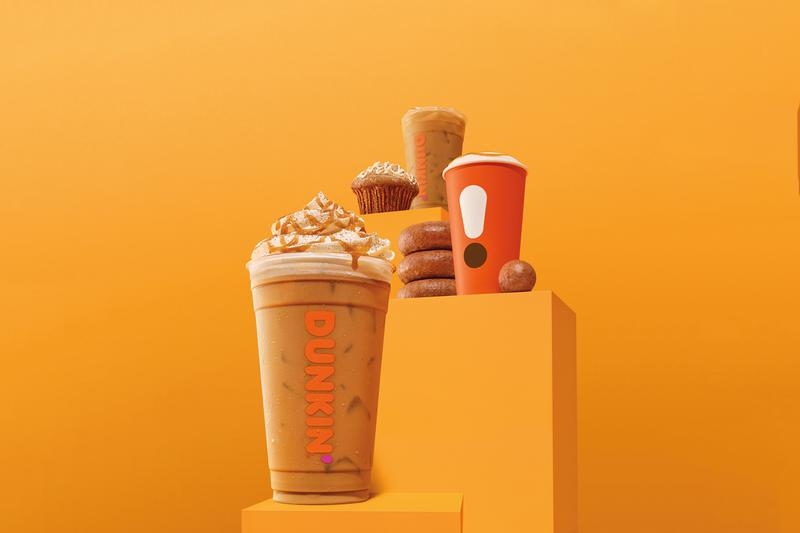 Dunkin' Prepares For Its Fall Pumpkin Menu MUNCHKINS Cinnamon Sugar Pumpkin Signature Latte apple cider donut hole whipped cream caramel swirl