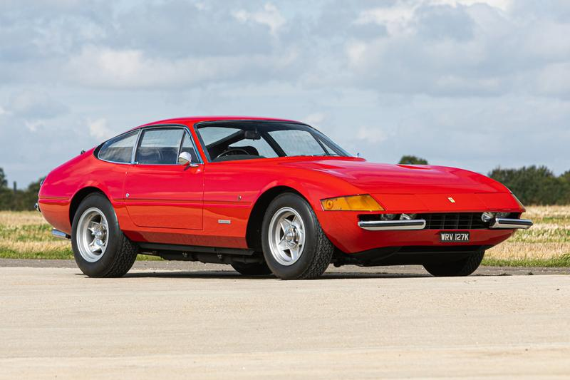 Elton John 1972 Ferrari Daytona on Auction sir rock music legend vintage cars prancing horse silverstone auctions collectors