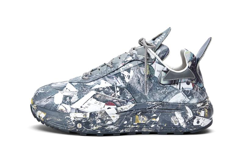 """Eytys Laser Leather Print """"Ocean Camo"""" New Sneaker Silhouette Minimal Chunky Ticked Reflective Laces Transparent Details Tumbled Leather Neoprene Release Information First Look Imagery Buy Cop Online Instore Now"""