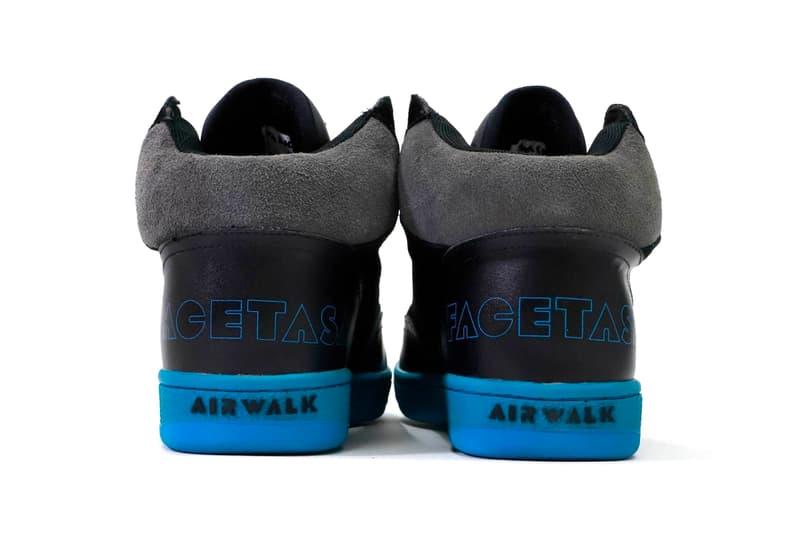 FACETASM Airwalk Disaster Enigma 1980 1990 skateboard lifestyle cushion hi tops high tops hi ankle king of skate shoes white black tonal sneaker footwear