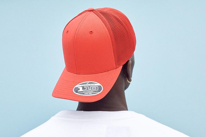 Flexfit 110 Snapback Combines With FlexFit Technology To Get A New And Improved Trucker Hat Look men's women's plastic bottles recycling