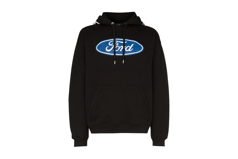 Versace Imagines Luxe Ford Logo Hoodie for FW19